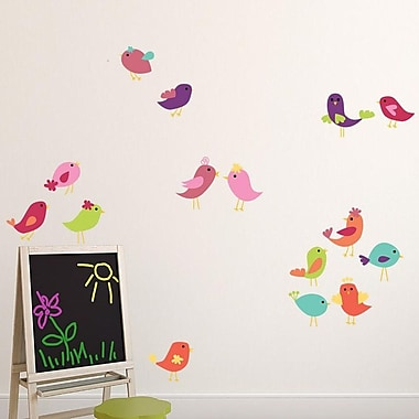 Style and Apply Cute Birds Set Wall Decal; 31'' H x 31'' W