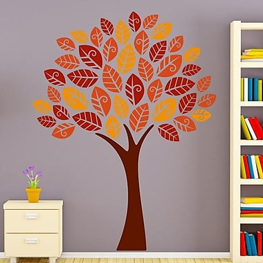 Style and Apply Autumn Leaves Tree Wall Decal; 40'' H x 31'' W