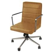 Ivy Bronx Schaefer PU Office Desk Chair; Vintage Caramel