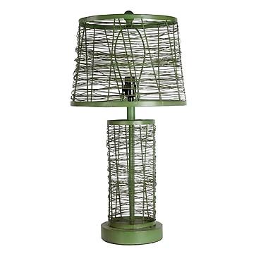 Gracie Oaks Nouvelle 27'' Table Lamp; Green