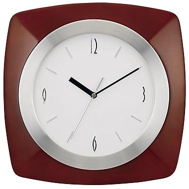 Darby Home Co 12'' Mahogany Frame Wall Clock