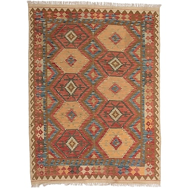 Loon Peak Olmsted Hand-Woven Copper/Light Gold Area Rug