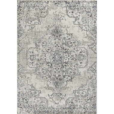 Astoria Grand Lappin Ivory/Gray Area Rug; 5'3'' x 7'7''
