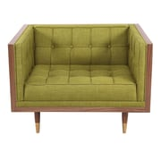 Brayden Studio Kail Solid Club Chair; Atomic Moss/Walnut