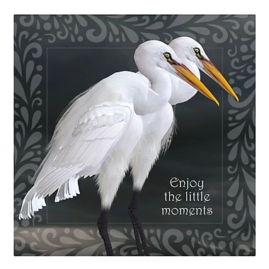 Bloomsbury Market 'Enjoy Little Moments' Graphic Art Print on Metal