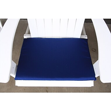 Charlton Home Outdoor Adirondack Chair Cushion; Navy Blue