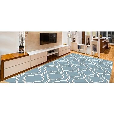 Charlton Home Larrabee Decorative Modern Contemporary Southwestern Blue Area Rug; 5' x 7'