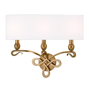 Darby Home Co Emmons 3-Light Wall Sconce; Aged Brass