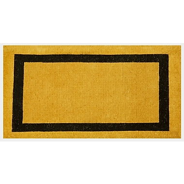 Charlton Home Lafond Border Coco Coir Welcome Doormat; 2' x 3'3''