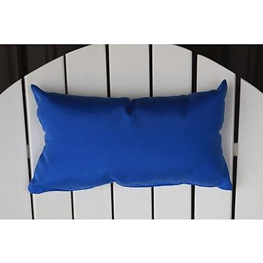 Charlton Home Lamothe Rectangular Adirondack Chair Outdoor Lumbar Pillow; Light Blue