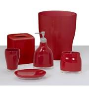 Brayden Studio Kania 6 Piece Bathroom Accessory Set; Red