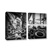 17 Stories 'Abandoned Tires' Rectangle Photographic Print Multi-Piece Image on Canvas
