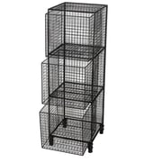 17 Stories Lorenco 37'' H Three Shelf Storage Drawer