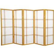 Mistana 48'' Boyer Screen 5 Panel Room Divider; Honey