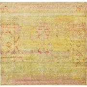 Mistana Bradford Yellow Area Rug; Square 8'