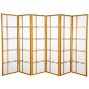 Mistana 60'' x 84'' Boyer 6 Panel Room Divider; Honey