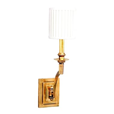 Darby Home Co Ellisurg 1-Light Wall Sconce; Aged Brass