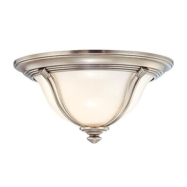 Darby Home Co Emjay Flush Mount; 5.5'' / Antique Nickel