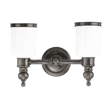 Darby Home Co Elma 2-Light Vanity Light; Antique Nickel