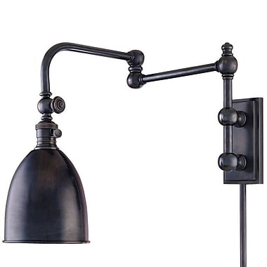 Darby Home Co Emery 1-Light Swing Arm w/ Hi-Lo Switch; Old Bronze