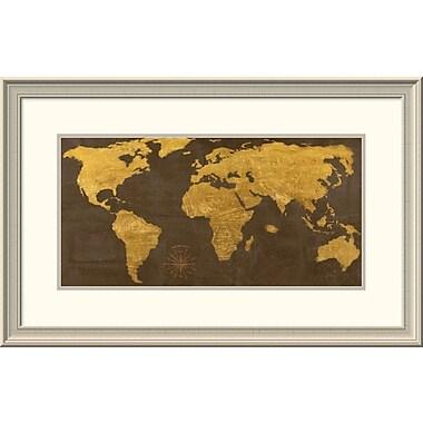 East Urban Home 'Geo Ii' Framed Print; 26'' H x 44'' W x 1.5'' D
