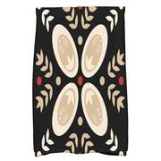Ivy Bronx Rectangle Cotton Hand Towel; Black