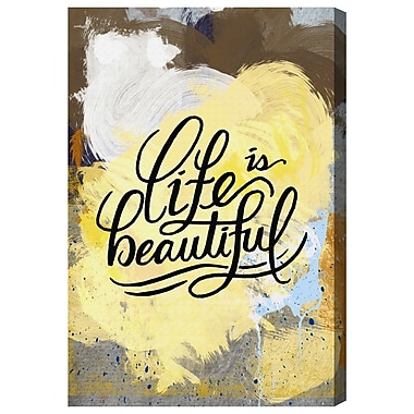 Ivy Bronx 'Beautiful Colorful Life' Textual Art on Canvas; 24'' H x 16'' W x 1.5'' D