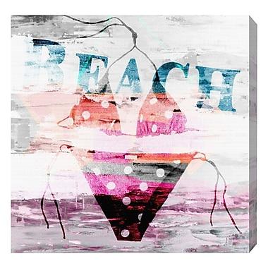 Ivy Bronx 'Bikini Tropical' Textual Art on Canvas; 43'' H x 43'' W x 1.5'' D