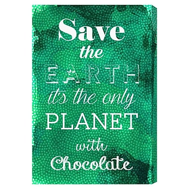 Ivy Bronx 'Chocolate Planet' Textual Art on Canvas; 30'' H x 20'' W x 1.5'' D