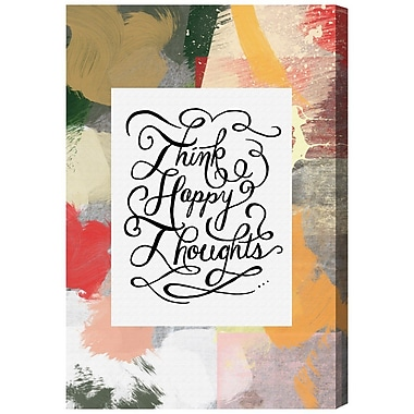 Ivy Bronx 'Happy Thoughts' Art on Canvas; 15'' H x 10'' W x 1.5'' D