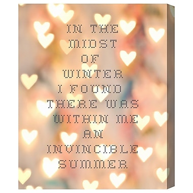 Ivy Bronx 'Invincible Summer' Textual Art on Canvas; 30'' H x 24'' W x 1.5'' D