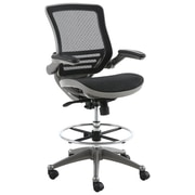 Latitude Run Clementina High-Back Mesh Drafting Chair; Gunmetal