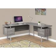 Latitude Run Darroll L-Shape Corner Desk; Dark Taupe