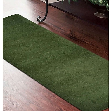 Latitude Run Delano Solid Hand Knotted Wool Green Area Rug; Runner 2' 8'' x 10'