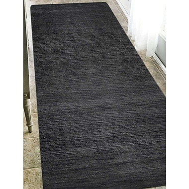 Latitude Run Delano Solid Hand Knotted Wool Gray Area Rug; Runner 2' 8'' x 8'