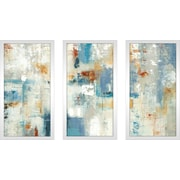 Latitude Run 'Layers of Connection' Framed Painting Print Multi-Piece Image on Glass