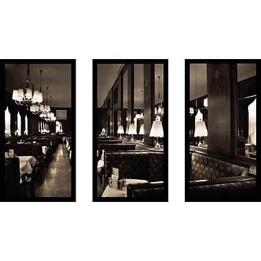 Latitude Run 'Cafe Vienna' Framed Photographic Print Multi-Piece Image on Glass; 25.5'' H x 40.5'' W