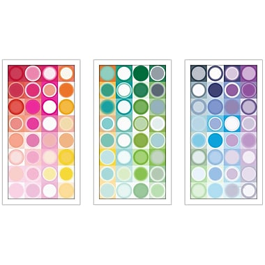 'Circles and Squares 55. Rainbow Joy' Framed Graphic Art Print Multi-Piece Image on Glass