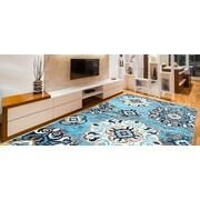 Winston Porter Doreen Decorative Modern Contemporary Southwestern Rectangle Blue/Beige Area Rug