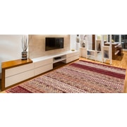 Winston Porter Doreen Decorative Modern Contemporary Southwestern Rectangle Red/Beige Area Rug