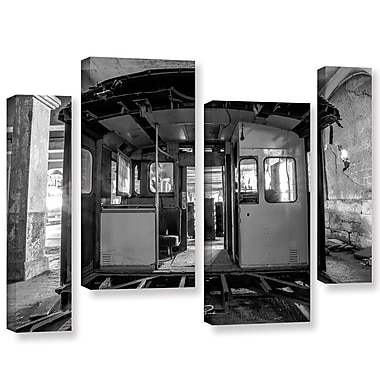 17 Stories 'Abandoned Subway 3' Rectangle Photographic Print Multi-Piece Image on Canvas