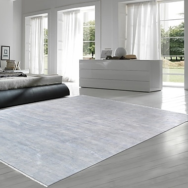 Pasargad Transitional Hand Knotted Wool Gray/Blue Area Rug
