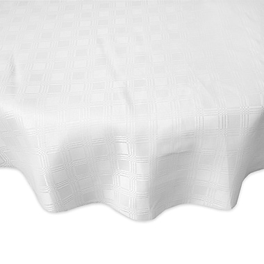 Red Barrel Studio Eleanora Spill Proof Fabric Tablecloth; White