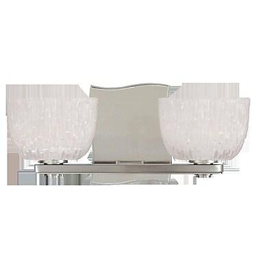 Orren Ellis Valerie 2-Light Vanity Light; Satin Nickel
