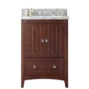 Darby Home Co Nixon Floor Mount 23.75'' Single Bathroom Plywood-Veneer Vanity Set w/ Ceramic Top