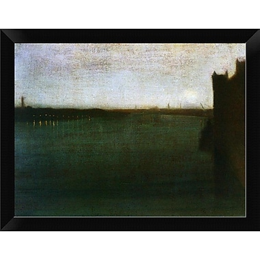 East Urban Home 'Nocturne Grey and Gold Westminster Bridge 1871' Framed Oil Painting Print