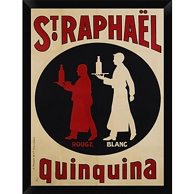 East Urban Home 'St. Raphael Quinquina 1925' Framed Graphic Art Print; 16'' H x 12'' W