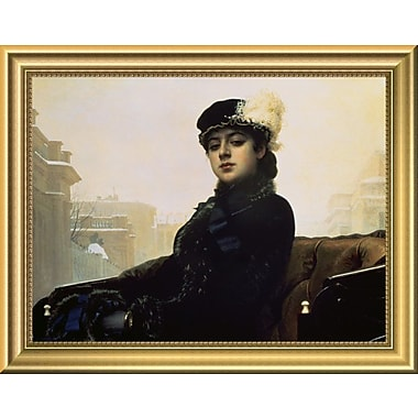 East Urban Home 'Portrait of an Unknown Woman' Framed Oil Painting Print; 11'' H x 14'' W