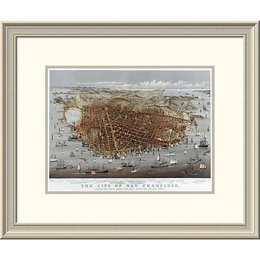 'The City of San Francisco; Bird'S Eye View From the Bay Looking South-West' Framed Print