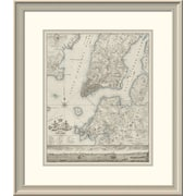 'Plan of the City of New York, Copied From the Ratzger Map - Decorative Blue Shading' Framed Print